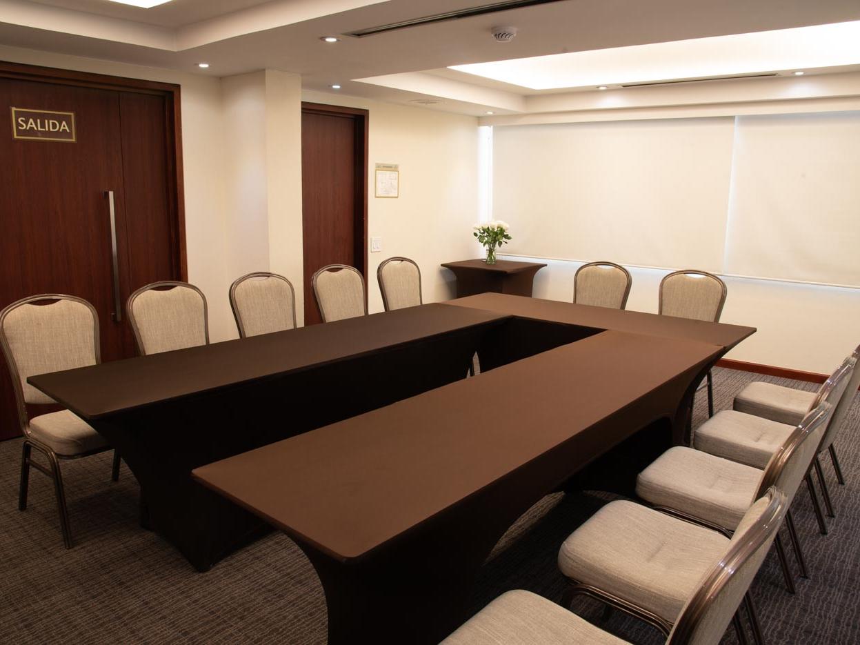 Las Aguas 3 meeting room Arranged in Bogota Plaza Hotel
