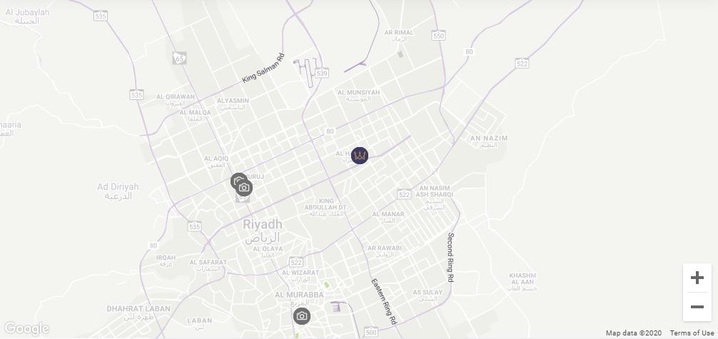 Map Location Al Hamra Palace by Warwick