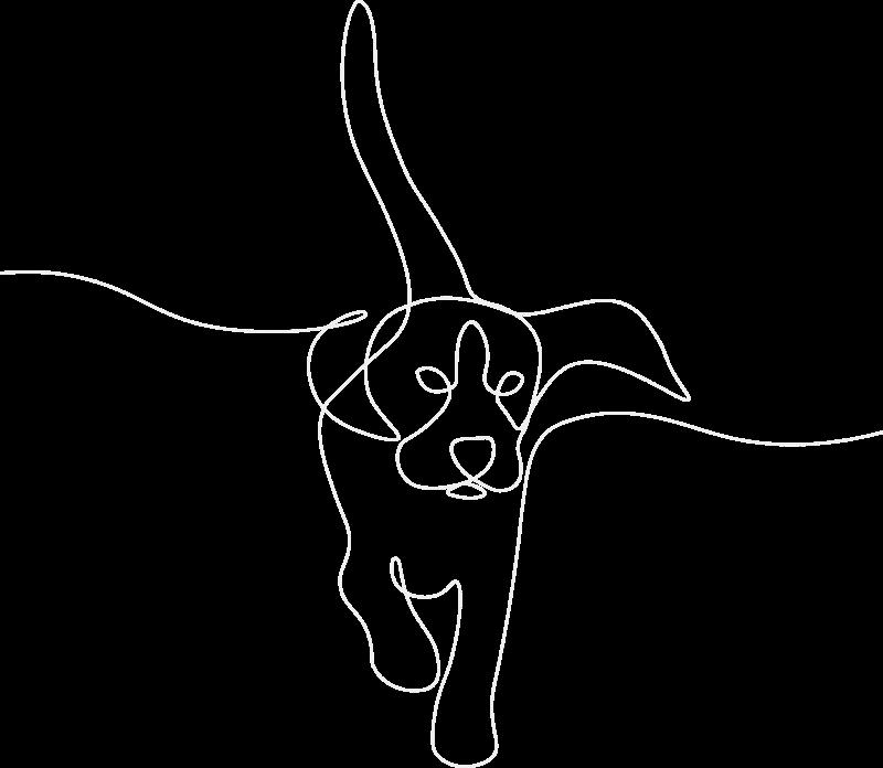 sketch of dog