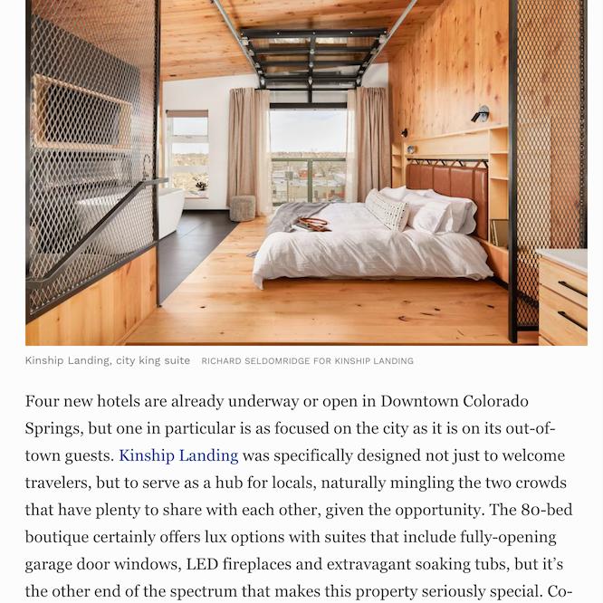 City king suite with description at Kinship Landing