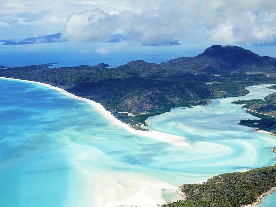Aerial view of Great Keppel Island near Daydream Island Resort