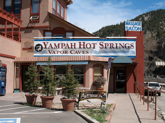 Exterior view of front of Yampah Vapor Caves