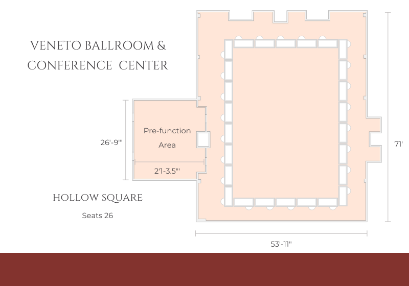 ballroom layout for hallow square