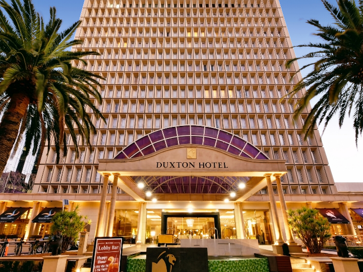 Exterior front view  of the Duxton Hotel Perth