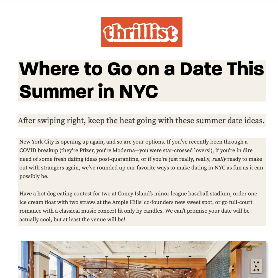 Article about The Rockaway Hotel in Thrillist