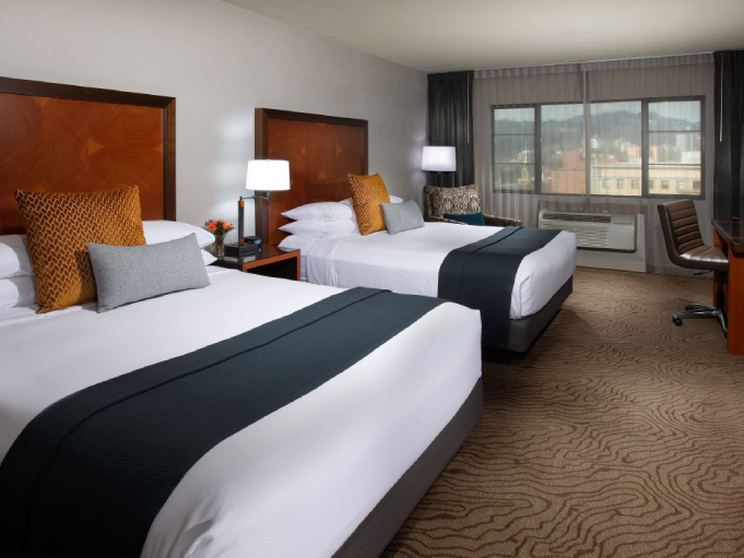 Deluxe Queen Queen Room with two beds at Paramount Hotel Portland